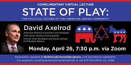 """""""State of Play: The Political Future of the American Jewish Community"""" tickets"""
