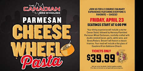 Cheese Wheel Pasta Night (Calgary - Northgate) tickets