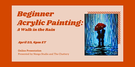 Beginner Acrylic Painting: A Walk in the Rain - ONLINE CLASS tickets