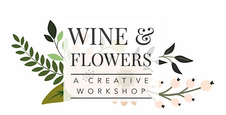 Wine & Flowers Workshop: Peonies and Lilacs Arrangement image
