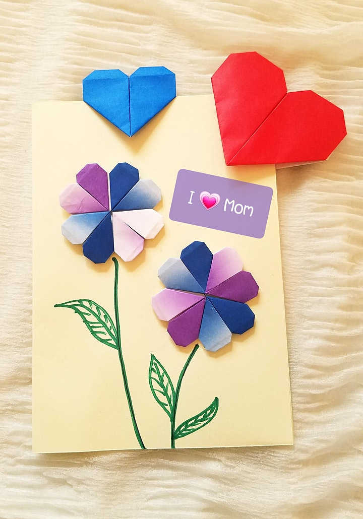 Origami Heart Bookmark/Card Children Workshop (Perfect for Mother's Day) image