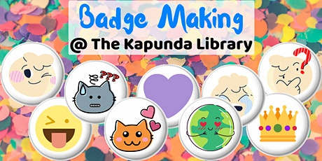 Badge Making School Holiday Session @ Kapunda Library tickets