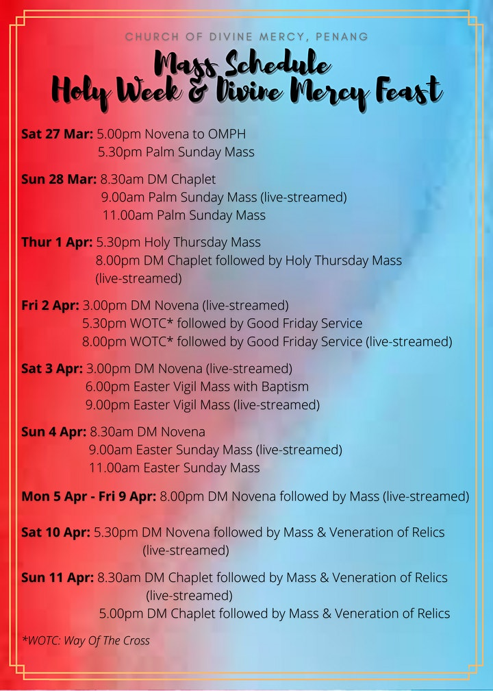 Holy Week & Divine Mercy Feast image