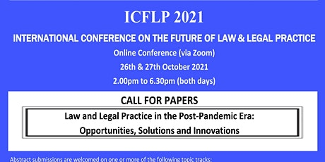 Taylor's International Conference on the Future of Law and Legal Practice(I tickets