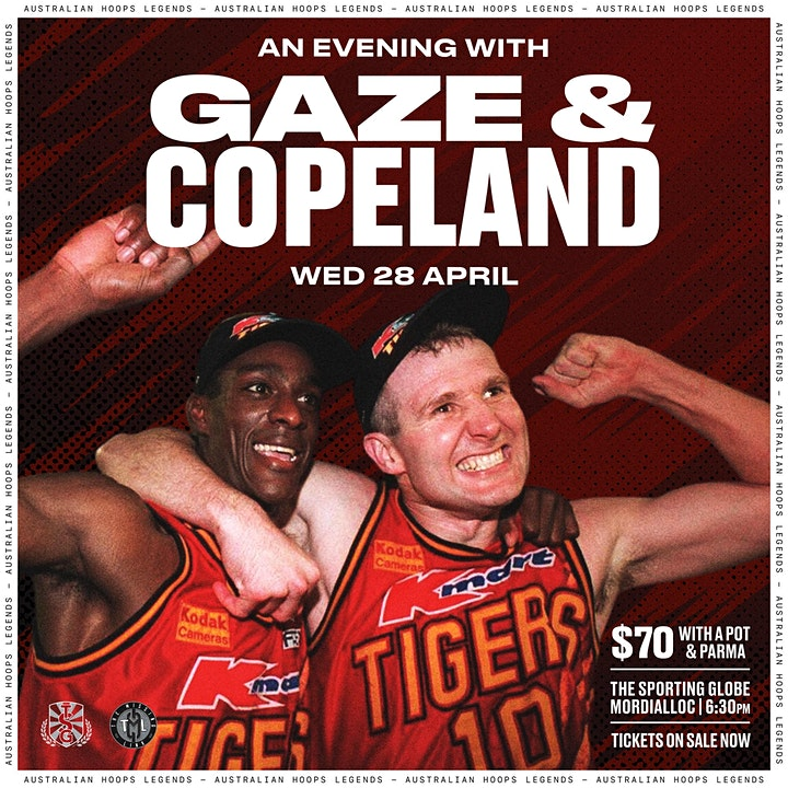 An evening with Andrew Gaze and Lanard Copeland image