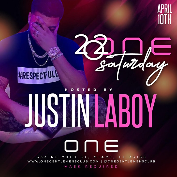 ONE GENTLEMEN'S  CLUB PRESENTS: 202ONE SATURDAY HOSTED BY JUSTIN LABOY image