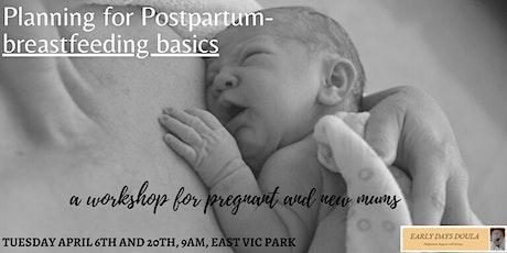 Planning for Postpartum - Breastfeeding Basics tickets