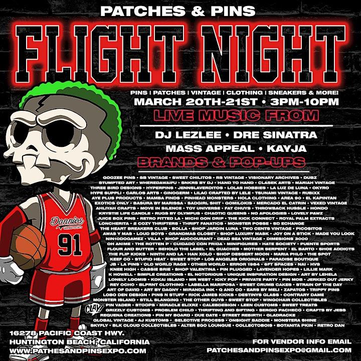 "Patches & Pins Flea Market at Night ""FLIGHT NIGHT"" image"