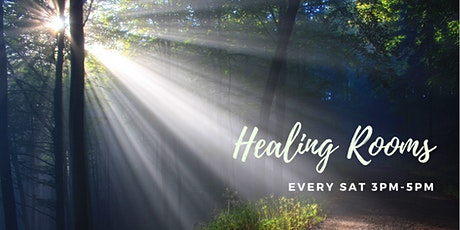 HEALING ROOMS 3-5pm. Every Saturday (except Public tickets
