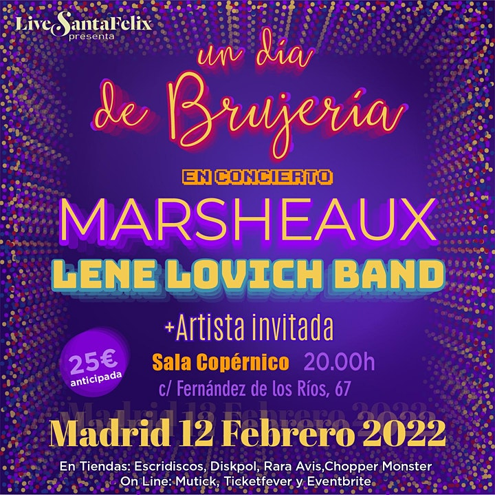 Imagen de Un día de Brujería. Marsheaux + Lene Lovich Band + Artista invitada