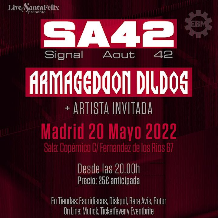 Imagen de Signal Aout 42 (SA42) + Armageddon Dildos + Artista invitada