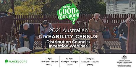 2021 Australian Liveability Census: Distribution Councils Inception Webinar biglietti