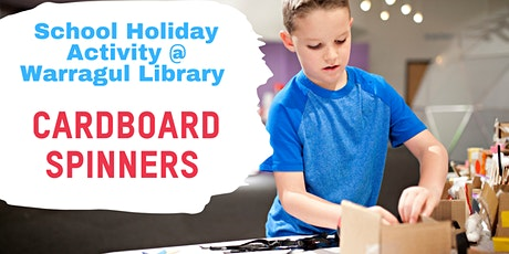 Cardboard Spinners - School Holiday Activity at Warragul Library tickets