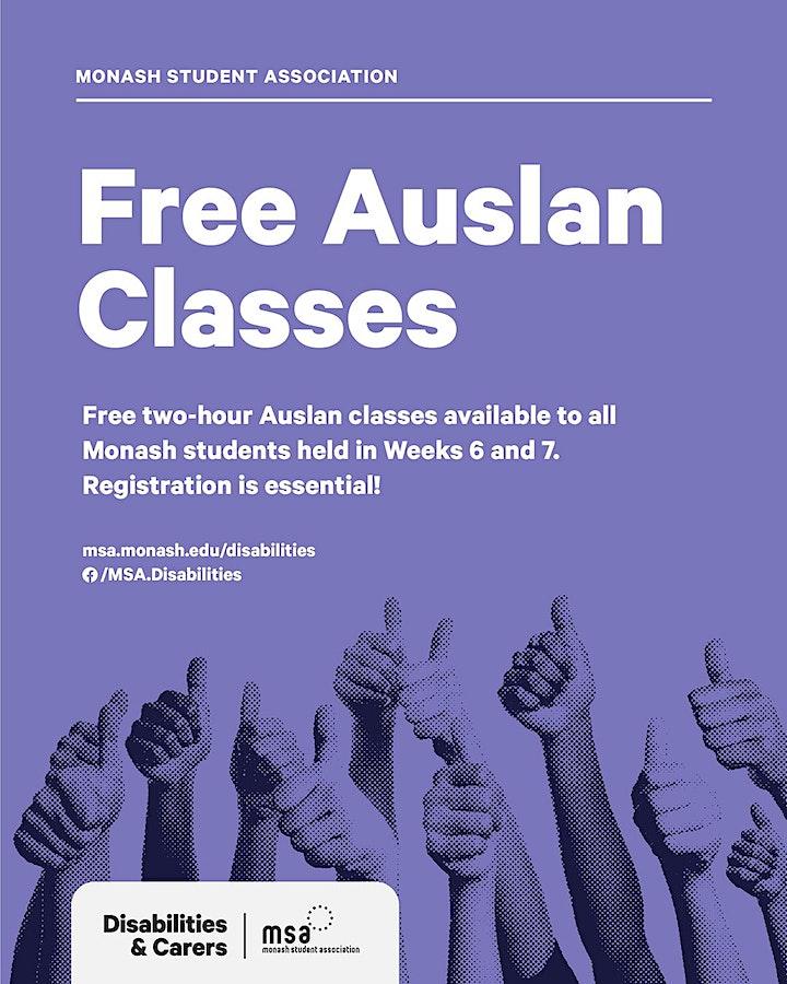 Free Auslan Classes image