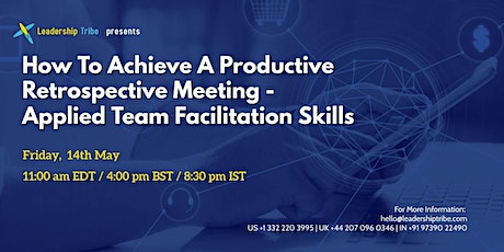 How To Achieve A Productive Retrospective Meeting - 140521 - Taiwan tickets