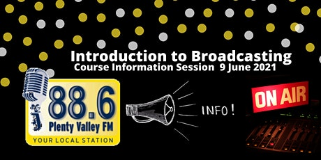 Introduction to broadcasting Course tickets
