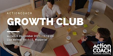 GrowthCLUB - Unternehmensplanung für KMU, Start-Ups und Selbständige Tickets