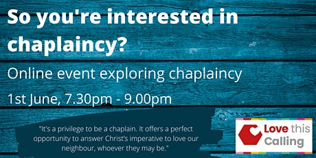 #LoveThisCalling: So you're interested in chaplaincy? tickets