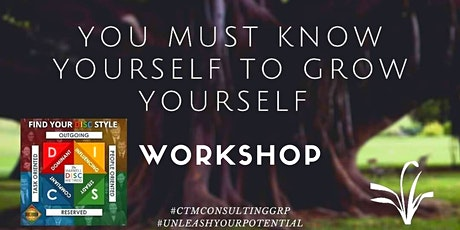 DISC workshop The Law of Awareness -You must know yourself to grow yourself tickets