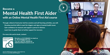 Mental Health First Aid England Adult 1 Day ONLINE tickets