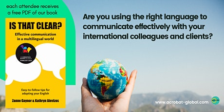 Top tips from language experts to boost your international performance tickets