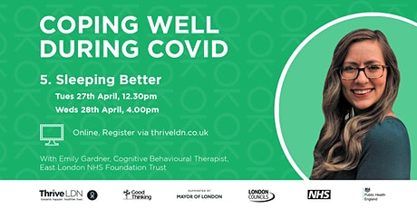 Coping Well During Covid: #5 Sleeping Better tickets