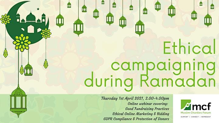 Ethical campaigning during Ramadan webinar image