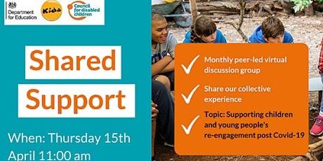 Shared Support - Participation coffee morning April tickets