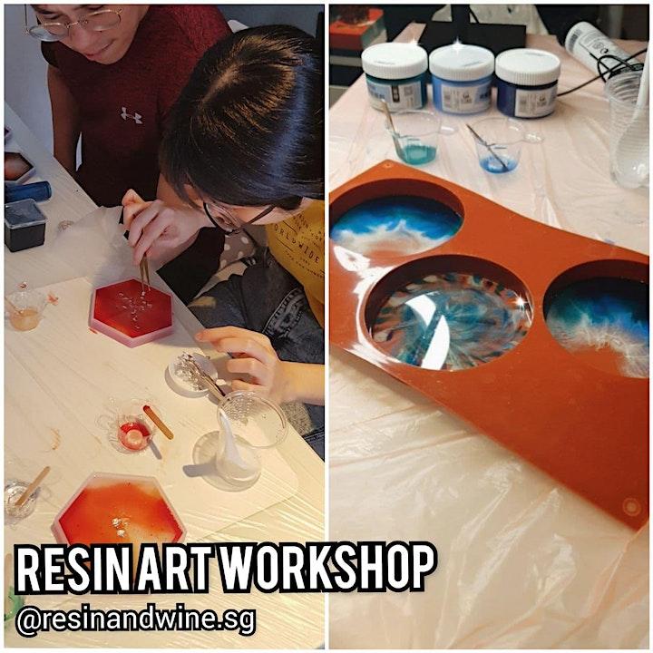 Resin Art Workshop (DIY Craft with Wine) image
