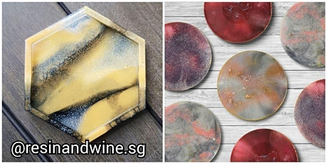 Resin Art Workshop (DIY Craft with Wine) tickets