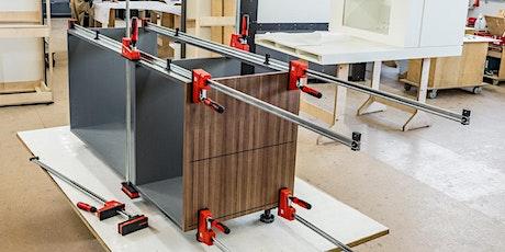 Spanntechnik Holz und Korpusverleimung - Online Workshop mit Bessey Tickets
