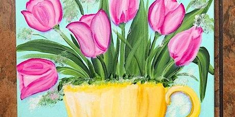 Tea Cup Tulip Paint Night tickets