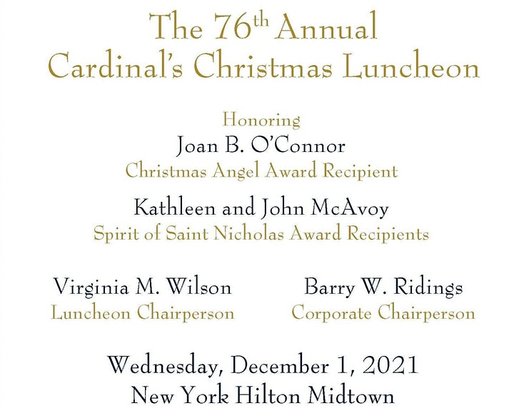 The 76th Annual Cardinal's Christmas Luncheon image
