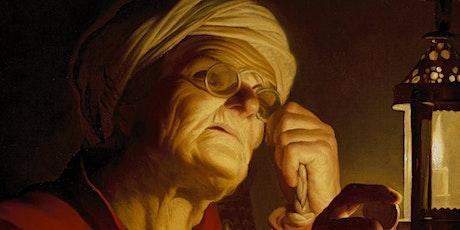 Online Kunstdialog - Gerrit van Honthorst - Alte Frau untersucht eine Münze Tickets