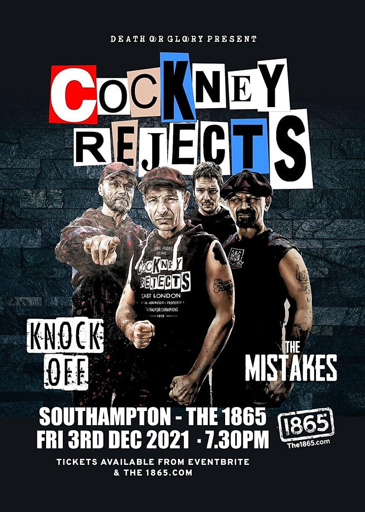 Cockney Rejects / Knock Off / The Mistakes Live at 1865 Southampton 1865 image
