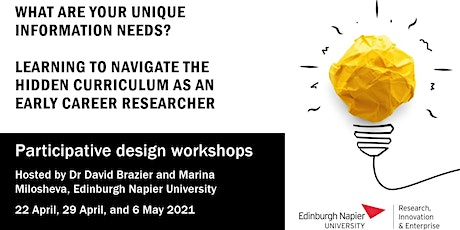 Learning to navigate the hidden curriculum as an early career researcher tickets