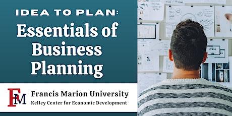 Idea to Plan: Essentials of Business Planning tickets
