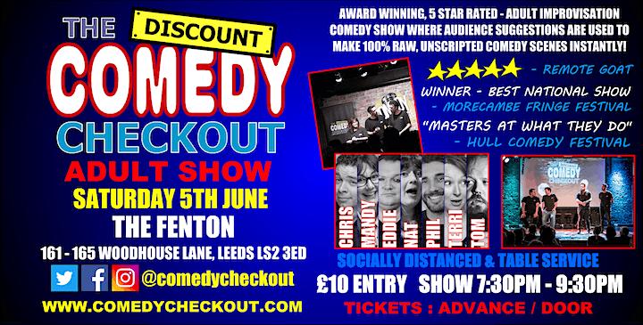 Comedy Night at The Fenton Leeds - Saturday 5th June image