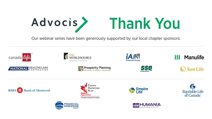 Advocis VISL:Strategies for Achieving and Maintaining Excellence image