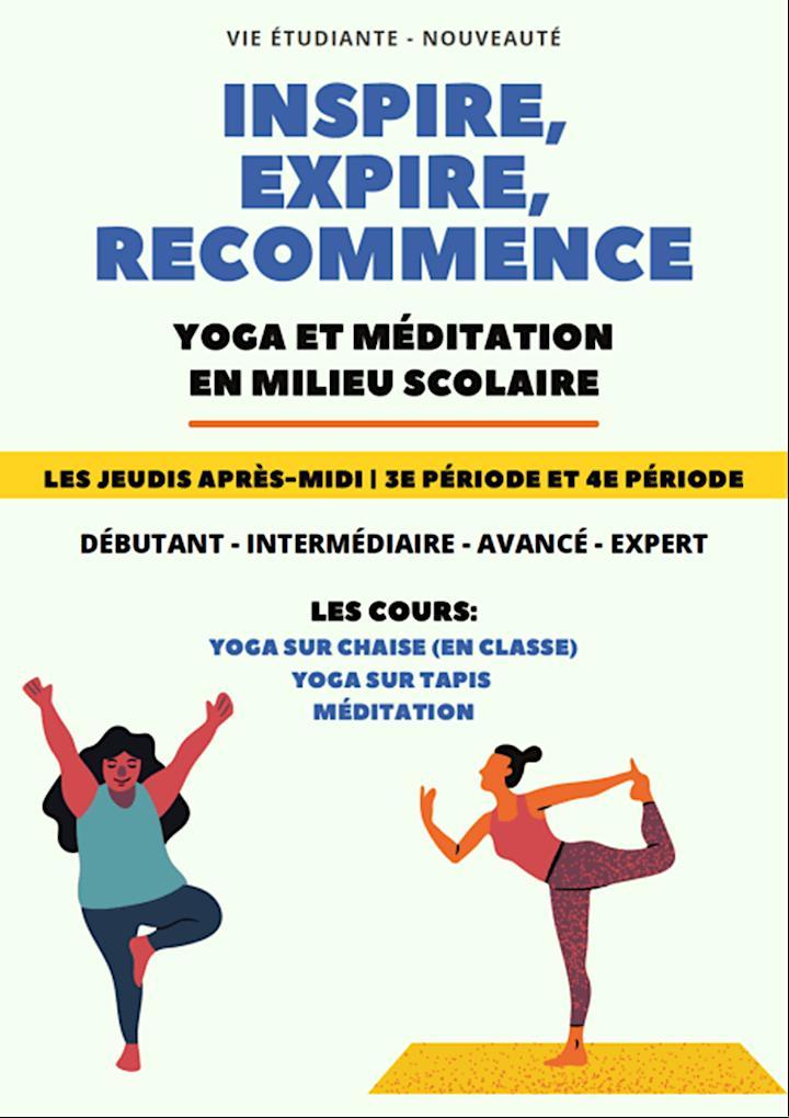 Image de Inspire, Expire, Recommence... yoga et méditation à l'école Saint-Laurent