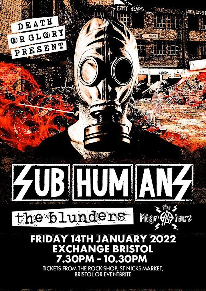 Subhumans / The Blunders / Migraines Exchange Bristol image