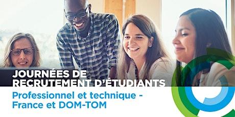 Journées de recrutement d'étudiants - pro. et technique - France et DOM-TOM billets