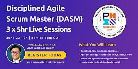 Disciplined Agile Scrum Master (DASM):  3 x 5hr Live Sessions ingressos