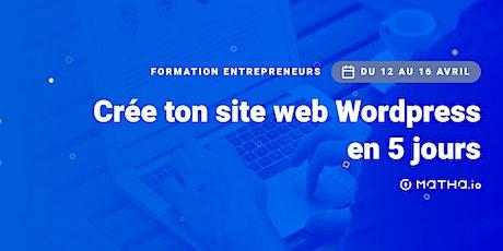 [FORMATION] Crée ton site en 5 jours sur Wordpress billets