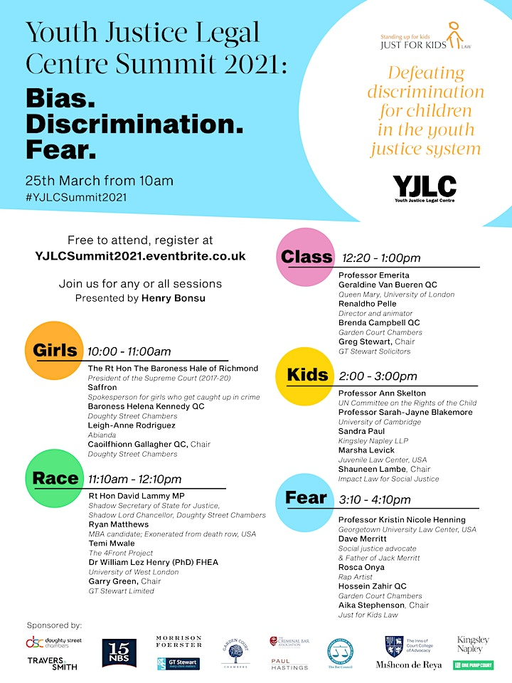 Youth Justice Summit 2021: Bias. Discrimination. Fear. image