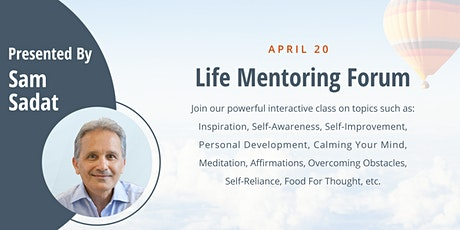 Sam's Life Mentoring Forum -- LIVE ONLINE tickets