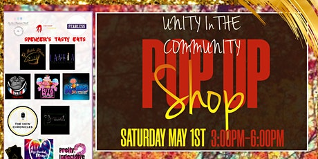 Unity In the Community Pop up shop tickets