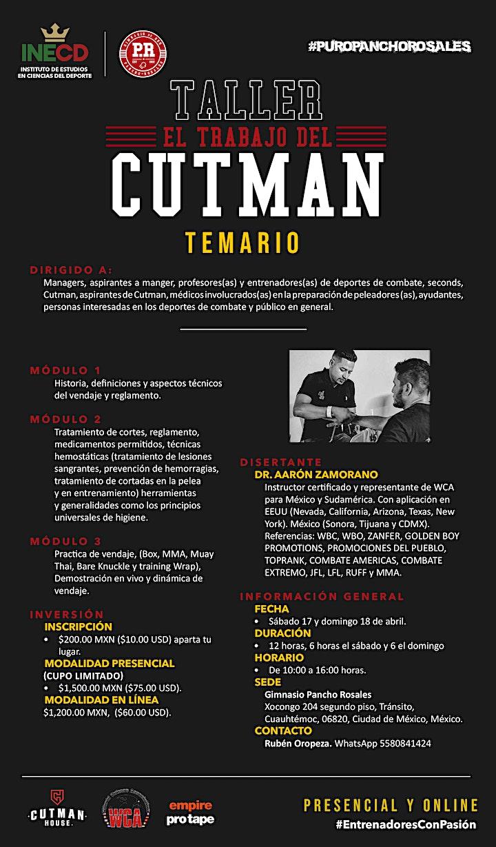 Imagen de TALLER EL TRABAJO DEL CUTMAN