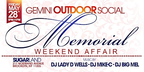 GEMINI OUTDOOR SOCIAL tickets