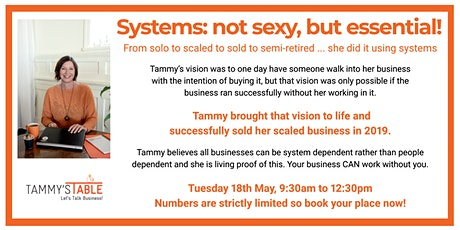 Systems: not sexy, but essential! tickets